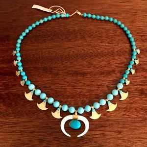 NEW Chan Luu Turquoise Necklace w Bone Horn Accent